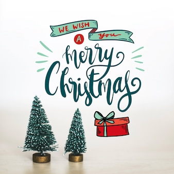 Design für frohe weihnachten schriftzug
