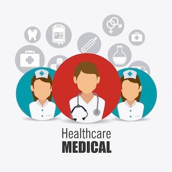 Design für medizinische gesundheitspflege.
