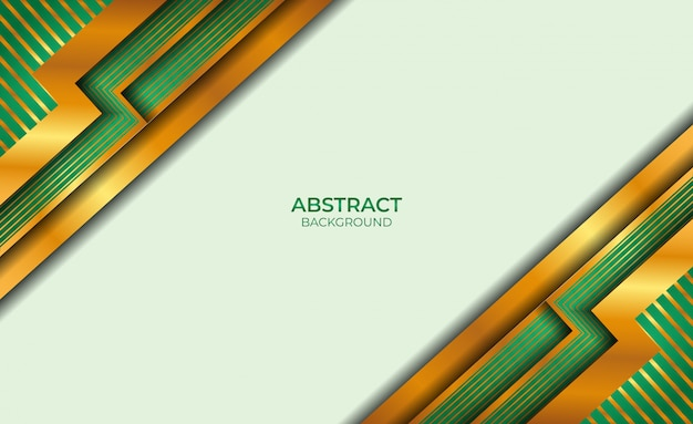 Design gold und green style abstract