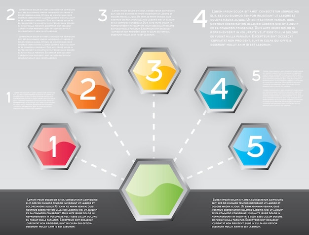Design-infografik mit fünf optionen. vektor-illustration.