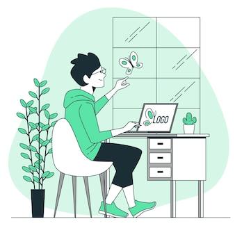 Design-inspirationskonzeptillustration