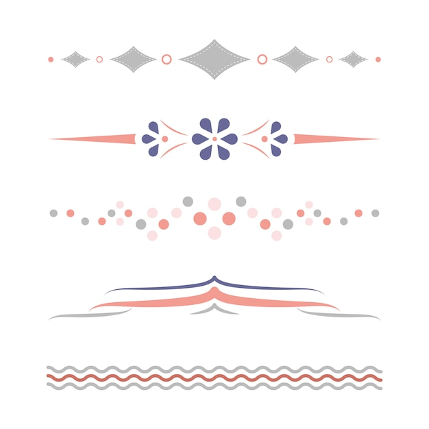 Design-kollektion für pastellteiler