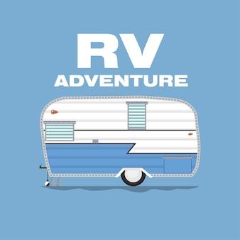 Design-konzept camper reisetagebuch mit rv cars