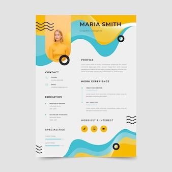 Design-konzept für lebenslaufvorlagen