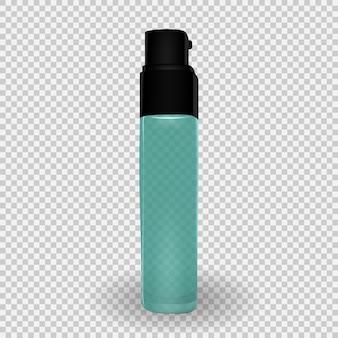 Design-kosmetik-produktvorlage für anzeigen oder zeitschriftenhintergrund. 3d realistischer vektor iillustration. eps10