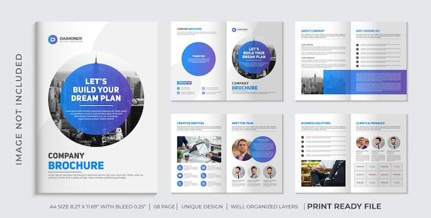 Design-layout für unternehmensprofilbroschüre