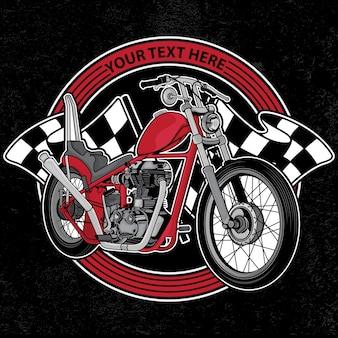 Design logo club motorrad
