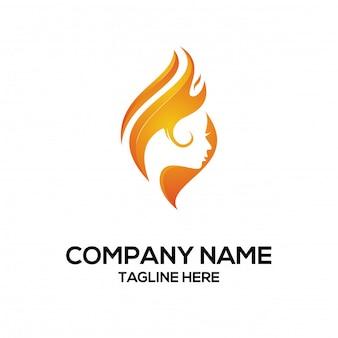 Design logo feuer und frau