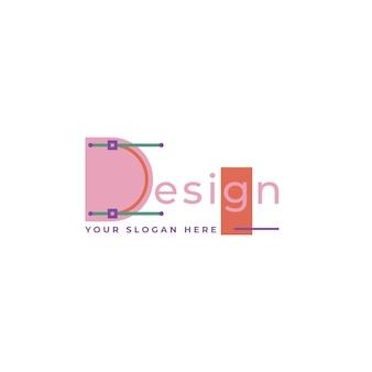 Design-logo mit slogan-platzhalter