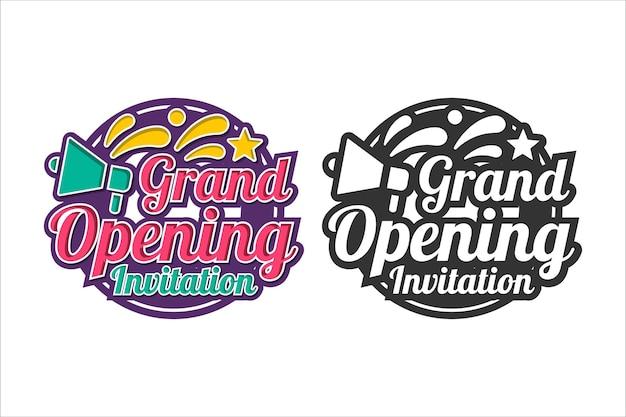 Design-logo-set der einladung zur eröffnung