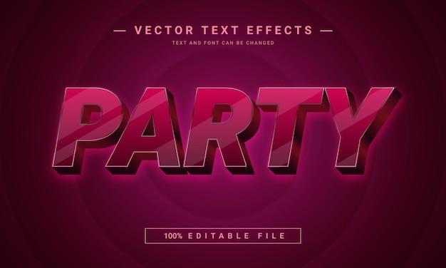 Design mit bearbeitbarem schrifteffekt für party