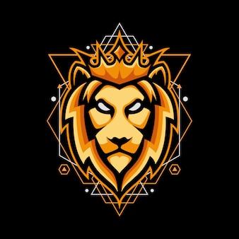 Design mit könig der löwen auf geometrie