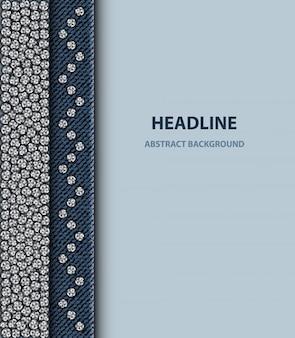 Design mit runden silbernen pailletten