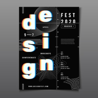 Design-plakat der roten cyan-brille 3d