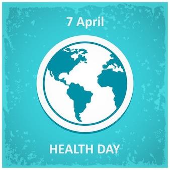 Design Plakat für den Weltgesundheitstag