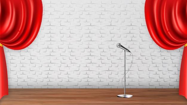 Design platform-szene für recital-spektakel