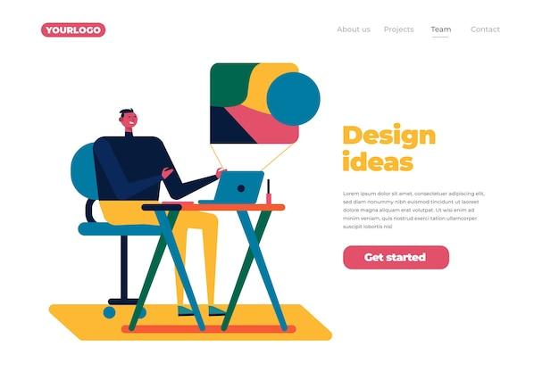 Design-prozess-landing-page-konzept