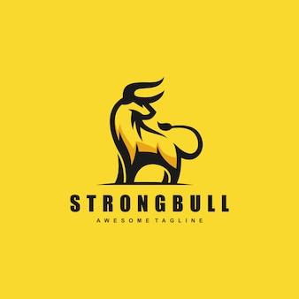 Design-schablone des bull-konzeptabbildungvektors