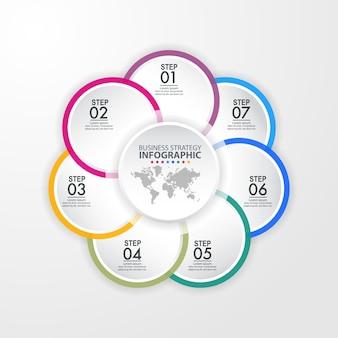 Design-schablonenillustration des geschäfts infographics