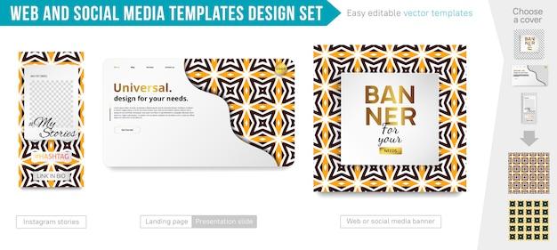 Design-set für web- und social media-vorlagen