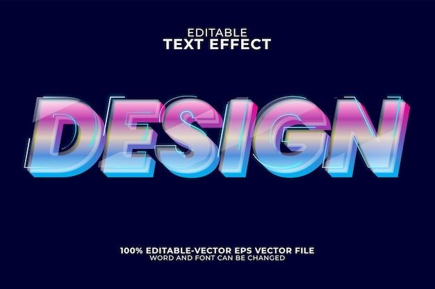 Design-texteffekt isoliert auf dunkelblau