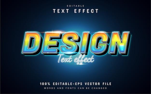 Design-texteffekt mit buntem farbverlauf