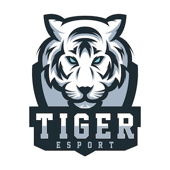 Design tiger logo für gaming-sport