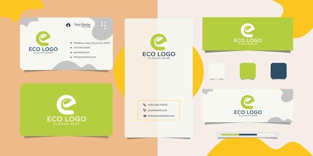 Design und visitenkarte von eco organic natural products