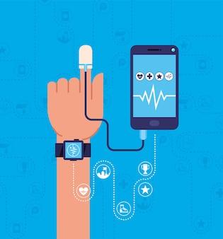 Design von gesundheitsgeräten mit apps