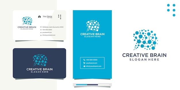 Design von ideen für gehirn und visitenkarten
