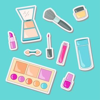 Design von kosmetischen aufklebern