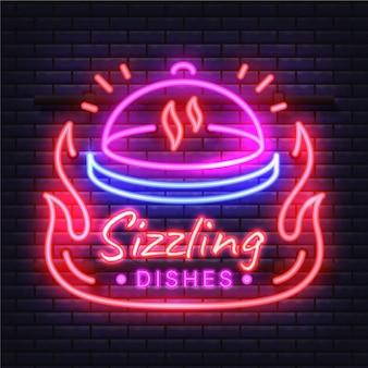 Design von neon-pub- und restaurant-schildern