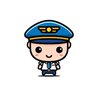 Design von niedlichen pilotfiguren