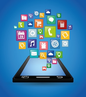 Design von smartphone-anwendungen.