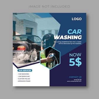 Design von social-media-beiträgen zur autowäsche