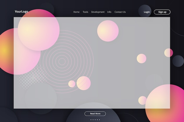 Design von vorlagen, webseiten und zielseiten für websites