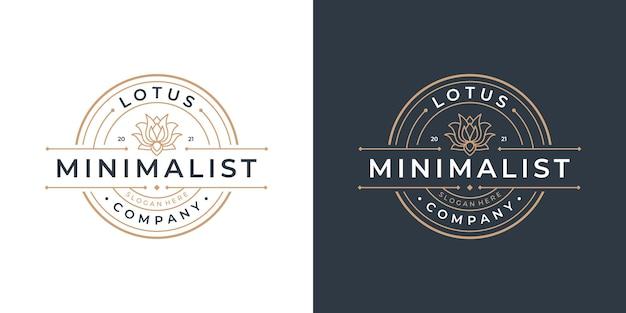 Design-vorlage für das beauty-lotus-blumen-logo. luxuslogo für schönheitssalon, spa und yoga.