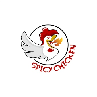 Design-vorlage für das design des cartoon-emblem-huhn-logos