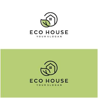 Design-vorlage für das öko-haus-logo