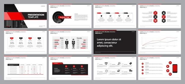 Design-vorlage für das präsentationsfolienlayout für unternehmen