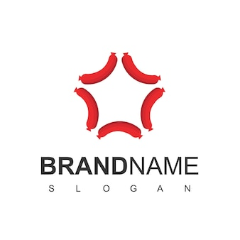 Design-vorlage für das stern-hot-dog-logo