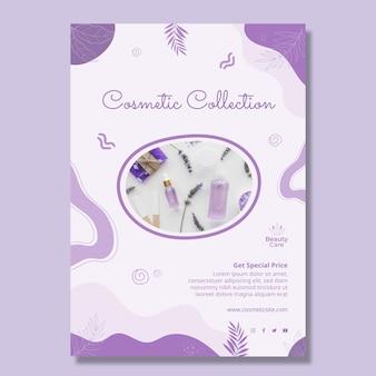 Design-vorlage für flyer der kosmetischen sammlung