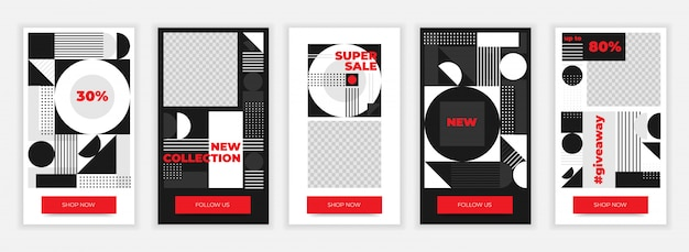 Design-vorlage für kreative instagram-geschichten