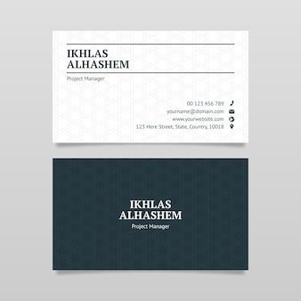 Design-vorlage für visitenkarten im stil einer anwaltskanzlei, anwalts-visitenkarte
