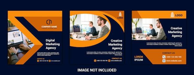 Design-vorlagenpaket für social-media-beiträge