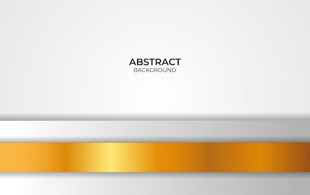 Design weiß und gold hintergrund