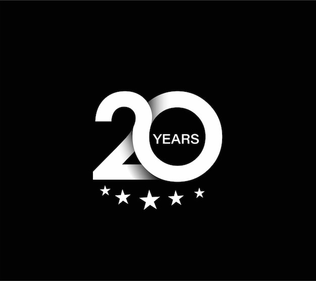 Design zum 20-jährigen jubiläum.