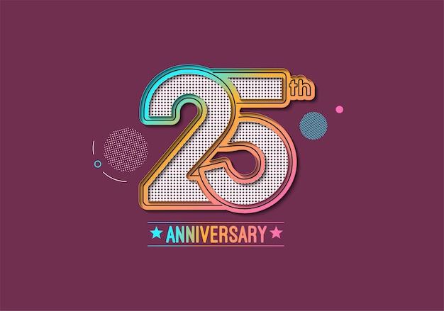 Design zum 25-jährigen jubiläum