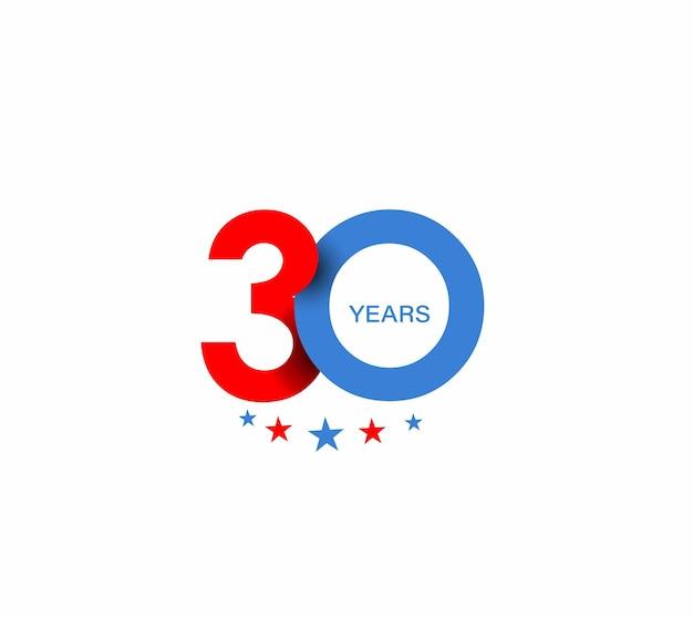 Design zum 30-jährigen jubiläum.