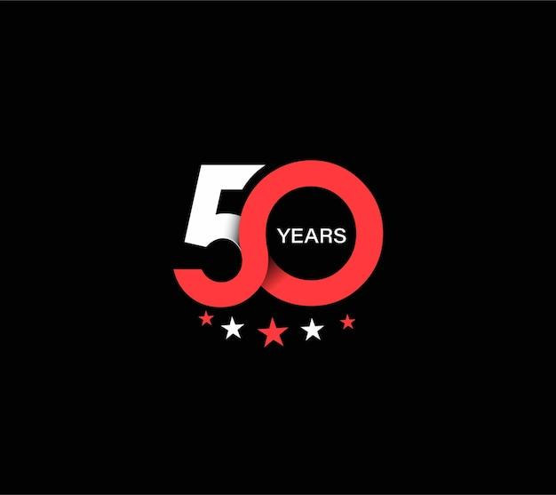 Design zum 50-jährigen jubiläum. Premium Vektoren